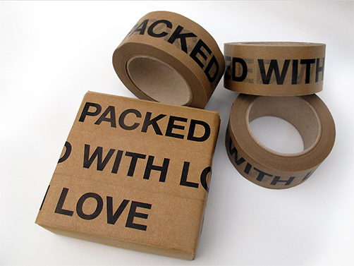 Sticky tape Packed with love